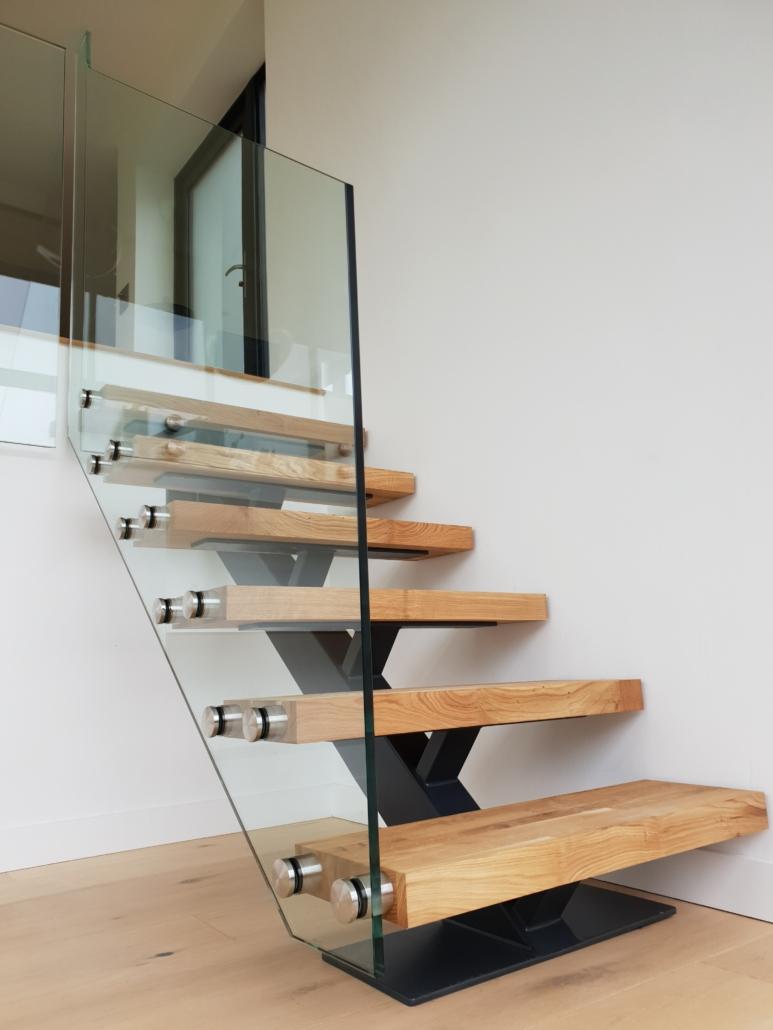Lewes mono / single stringer staircase - Brighton Stairs