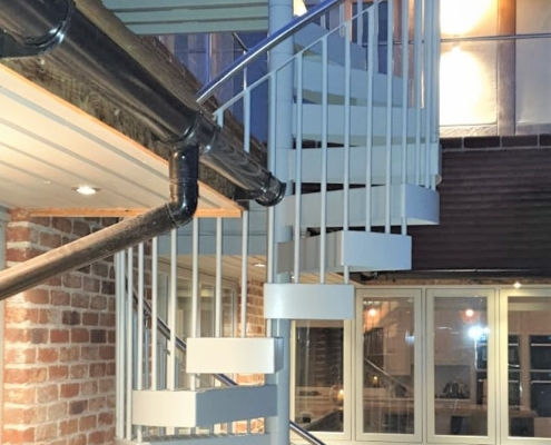 An external spiral staircase installed for our clients in Hassocks